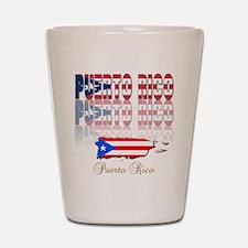 Puerto rican pride Shot Glass