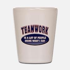Teamwork Shot Glass