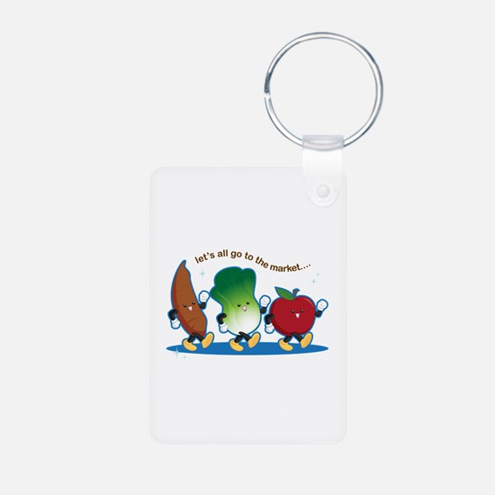 Let's Go to the Market! Keychains