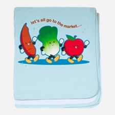 Let's Go to the Market! baby blanket