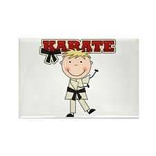 Blond Boy Karate Kid Rectangle Magnet