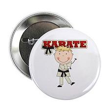 """Blond Boy Karate Kid 2.25"""" Button"""