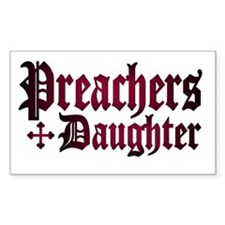 """Preachers Daughter"" Rectangle Decal"