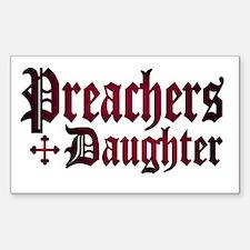"""Preachers Daughter"" Rectangle Decal"