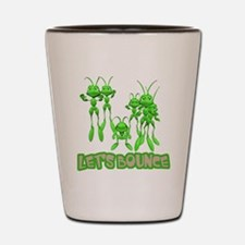 Let's Bounce Grasshoppers Shot Glass