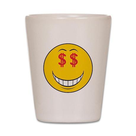 Money Eyes (Greedy) Smiley Fa Shot Glass