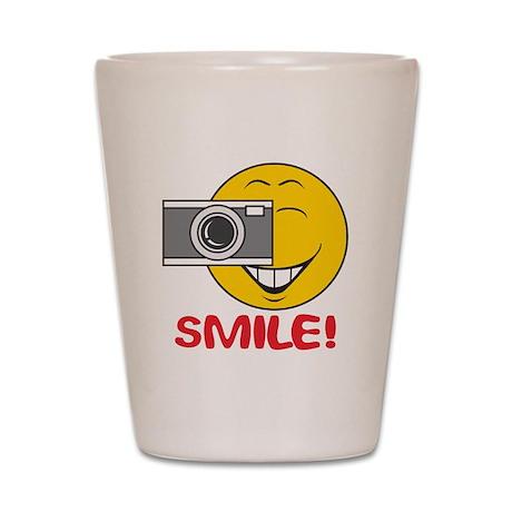 Photographer Smiley Face Shot Glass