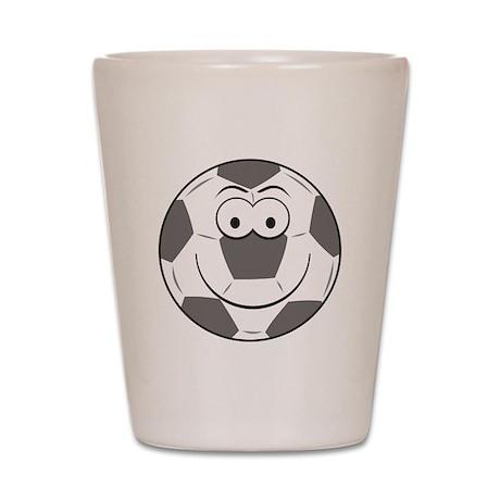 Soccer Ball Smiley Face Shot Glass