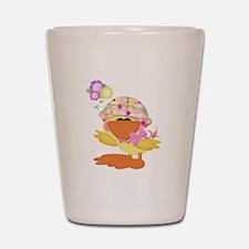 Cute Baby Girl Ducky Duck Shot Glass