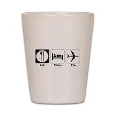 Eat. Sleep. Fly. (Pilot/Plane Shot Glass