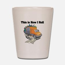 How I Roll (Garbage Truck) Shot Glass