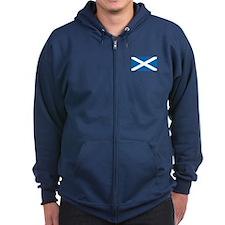 St. Andrews Cross Zip Hoodie (Dark)