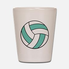 Funny Volleyball Belly Shot Glass