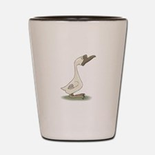 Silly White Goose Shot Glass