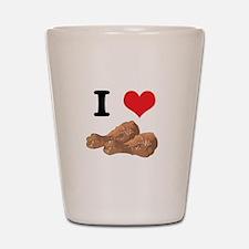 I Heart (Love) Chicken (Drums Shot Glass