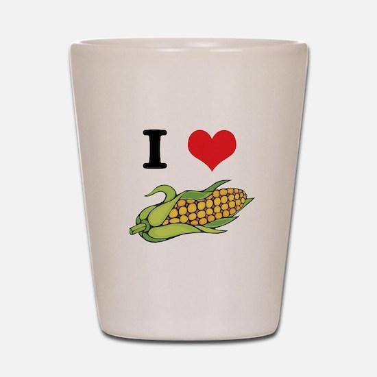 I Heart (Love) Corn (On the C Shot Glass