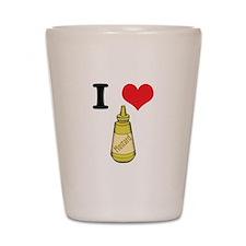 I Heart (Love) Mustard Shot Glass