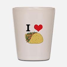 I Heart (Love) Tacos Shot Glass