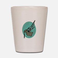 Bagpipes Shot Glass
