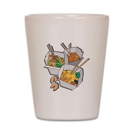Chinese Takeout Shot Glass
