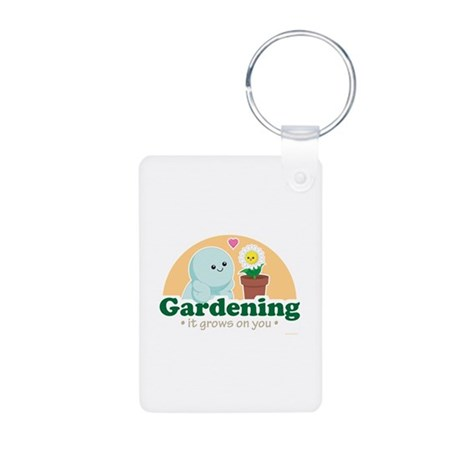 Gardening Grows on You Aluminum Photo Keychain