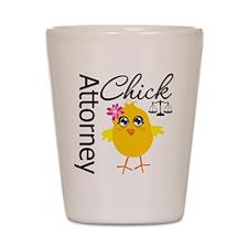 Attorney Chick Shot Glass