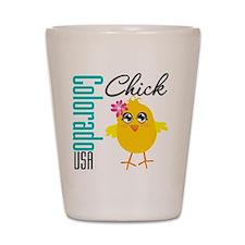 Colorado Chick Shot Glass