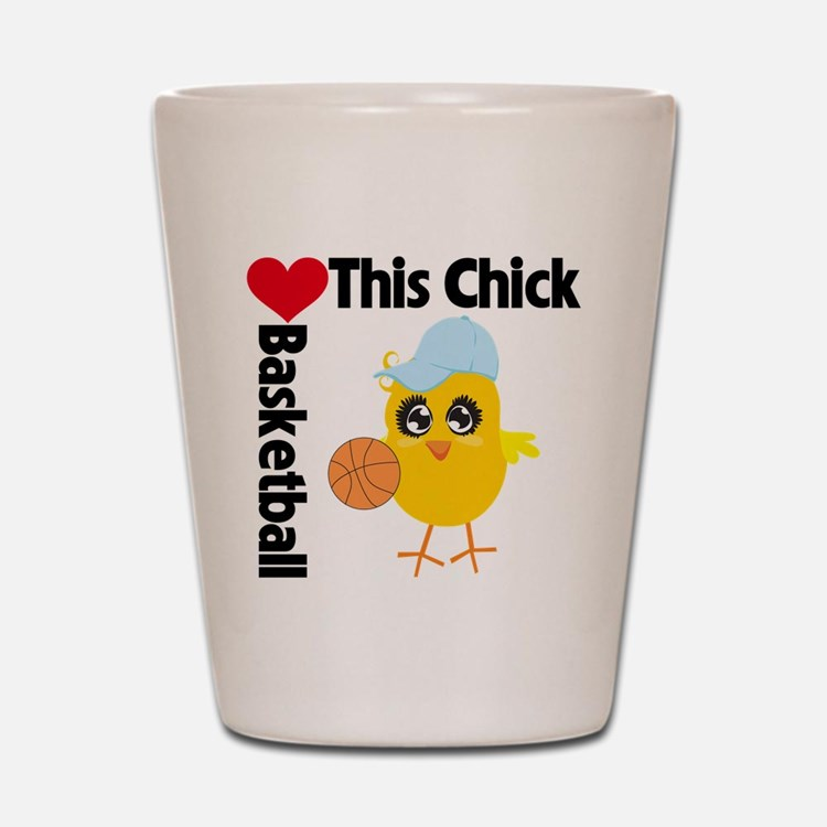 This Chick Loves Basketball Shot Glass