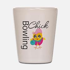Bowling Chick Shot Glass