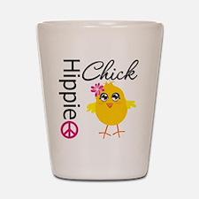 Hippie Chick v2 Shot Glass