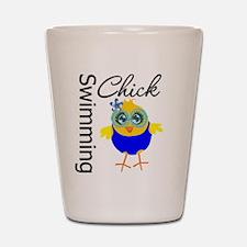 Swimming Chick v2 Shot Glass