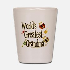 Grandma Butterflies Shot Glass
