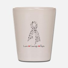 Brain Cancer Love Hope Shot Glass
