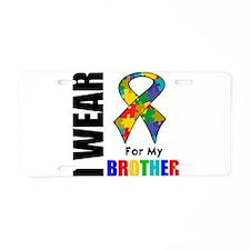 Autism Brother Aluminum License Plate