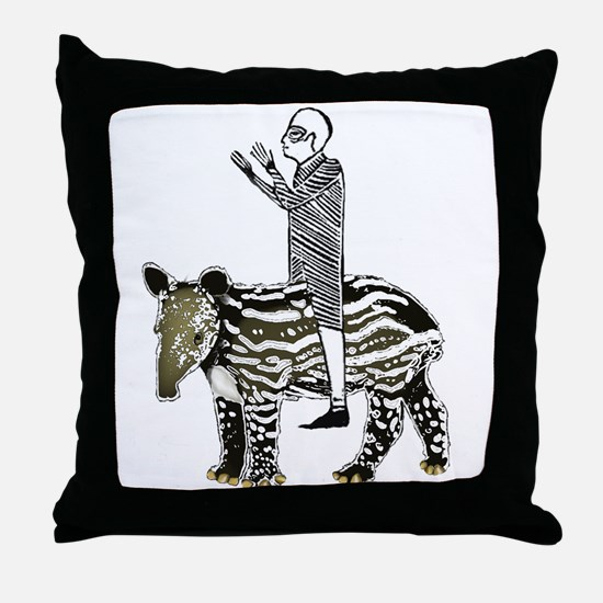 tapirRider Throw Pillow