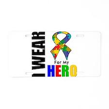 Autism Hero Aluminum License Plate