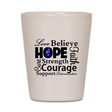 Colon Cancer Hope Collage Shot Glass