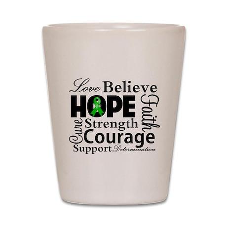 Bile Duct Cancer Hope Shot Glass