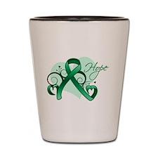 Hope Ribbon - Liver Cancer Shot Glass