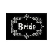 """""""Celtic Knots Bride"""" Rectangle Magnet"""