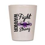 Fight Strong Pancreatic Cancer Shot Glass