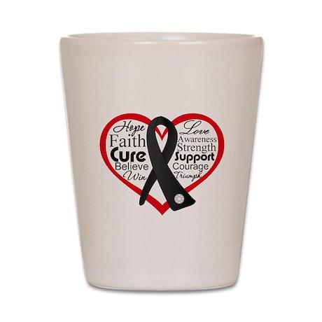 Skin Cancer Heart Shot Glass