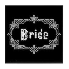 """""""Celtic Knots Bride"""" Tile Coaster"""