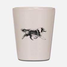 Running Collie Shot Glass