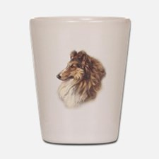 Vintage Sable Collie Shot Glass