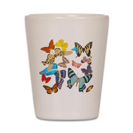 Beautiful Butterflies Shot Glass