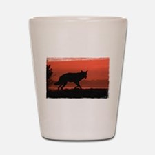 Sunset Wolf Shot Glass