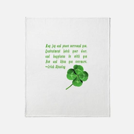 Funny Irish blessing Throw Blanket