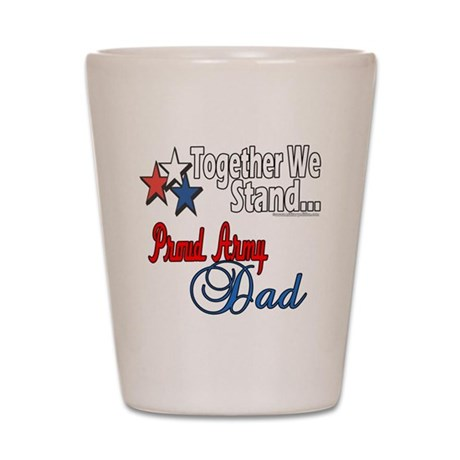 Army Father Shot Glass