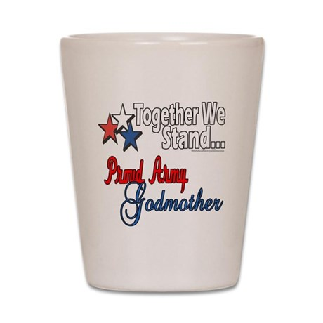 Army Godmother Shot Glass